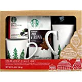 Starbucks Mug and Coffee Gift Set (4 Pieces) (Red)