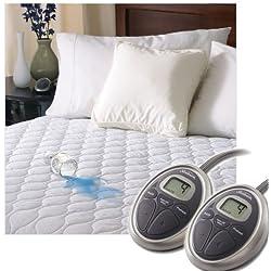 sunbeam waterproof heated mattress pad queen - Heated Mattress Pad Queen