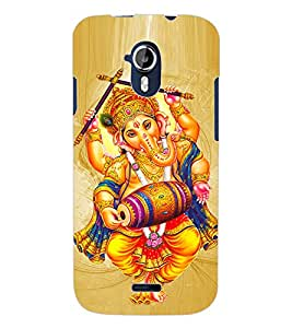 ColourCraft Lord Ganesha Design Back Case Cover for MICROMAX CANVAS MAGNUS A117