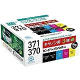 エコリカ リサイクルインクカートリッジ CANON  BCI-371+370/5MPリサイクル 5色セット ECI-C371-5P