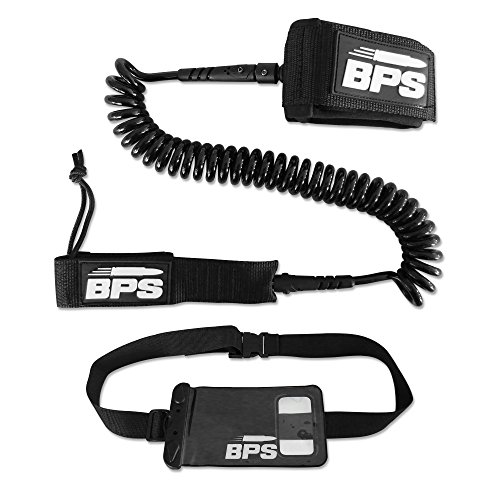 STORM PREMIUM SUP Leash 10-Inch  COILED - with FREE BPS Waterproof Wallet