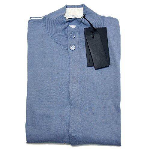 A0640 cardigan uomo PAOLO PECORA azzurro maglione sweater men [XXL]