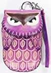 Leather Handmade Craft Animal Owl Wristlet Coin Change Purse