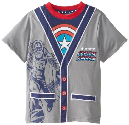 Marvel Boy's Captain America Ca-Rdigan T-Shirt
