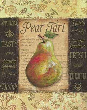 Feelingathome- imprimer-sur-toile-100%coton-Tarte-aux-poires-cm67x53-affiche-reproduction-gravure-