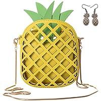 QZUnique Women's PU Pineapple Shape Hollow Out Casual Cross body Handbag Purse
