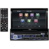 Boss Audio BV9973 - In-Dash, Single-Din, DVD/CD/MP3 Compatible AM/FM Receiver Featuring A Motorized 7