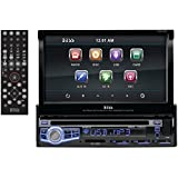 "Boss Audio BV9973 - In-Dash, Single-Din, DVD/CD/MP3 Compatible AM/FM Receiver Featuring A Motorized 7"" Widescreen, Touchscreen, Digital, TFT Monitor"