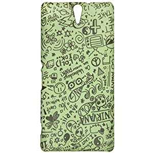 Casotec Nirvana Pattern Design 3D Printed Hard Back Case Cover for Sony Xperia C5 Ultra Dual