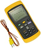 FLUKE 54-2 DUAL INPUT DIGITAL THERMOMETER WITH USB RECORDING, 3 AA BATTERY, -418 TO 3212 DEGREE F RANGE, 60 HZ NOISE REJECTION