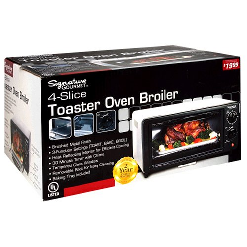 Amazon Com Signature Gourmet 4 Slice Toaster Oven Broiler