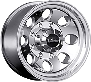Vision Scorpion 17 Polished Wheel / Rim 8x6.5 with a 0mm Offset and a 130.8 Hub Bore. Partnumber 171-7981P0
