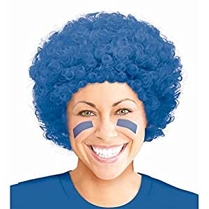 Pop Blue Fancy Dress Pop Afro Wigs for Costumes & Outfits Accessory
