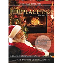 Fireplace for Your Home - Crackling Yule Log Fireplace