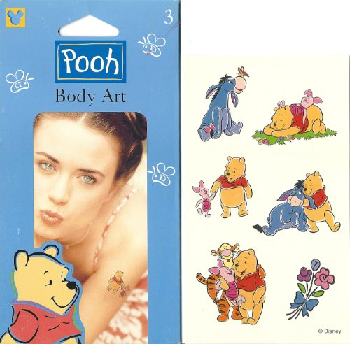 Disney Winnie the Pooh Outdoors Camping Body Art Temporary Tattoo - 1