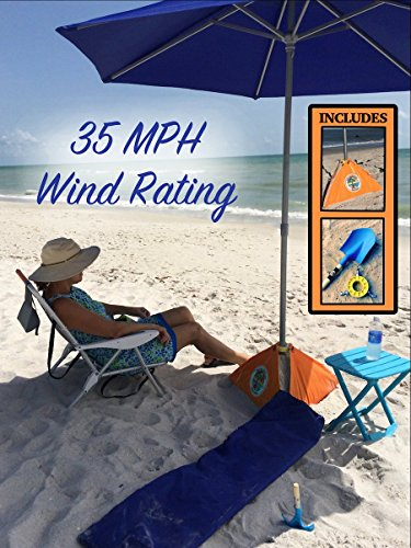 beachBUB® All-In-One Beach Umbrella System (includes BUBrella, ULTRA Base & Accessory Kit)
