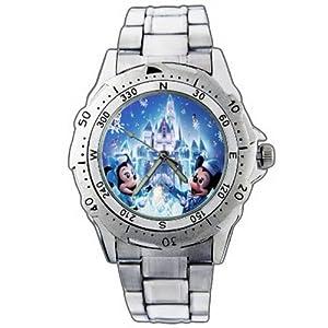 EPSP311 Mickey Minnie Snow Winter Christmas Disney Stainless Steel Wrist Watch