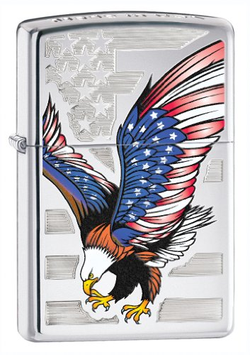 Zippo Eagle Flag Pocket Lighter