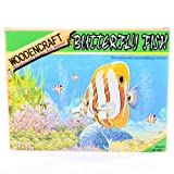 Wooden 3D Puzzle, Butterfly Fish, Small