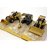 Cat 320 E, D7 E And 980 K (Set Of 3 Vehicles) Scale Diecast Metal Model
