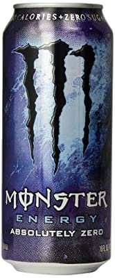 Monster Energy Drink, Absolutely Zero, 16-Ounce Cans (Pack of 24)