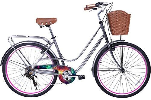 Gama Bikes Women's City Avenue Step-Thru 6 Speed Shimano Hybrid Urban Cruiser Commuter Road Bicycle, 26-inch wheels 0