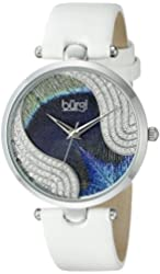 Burgi Women's BUR131WTS Analog Display Swiss Quartz White Watch