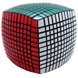 11x11x11 Speed Cube Puzzle ,Black Body,stickers Fnished