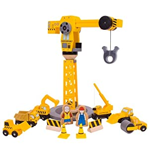 Bigjigs Rail BJT200 Coffret De Construction Grande Grue