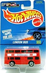 LONDON BUS Hot Wheels #613 Red Double Decker London Bus 1:64 Scale Collectible Die Cast Car