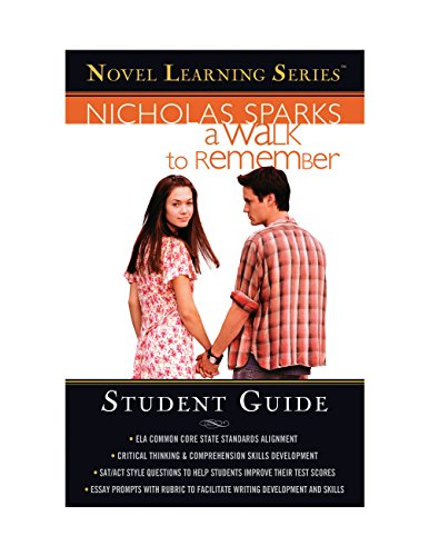 Nicholas Sparks - A Walk to Remember: Student edition (Novel Learning Series) (English Edition)
