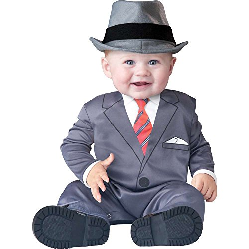 Infant Boy Costume: Baby Business Man Mafia Costume
