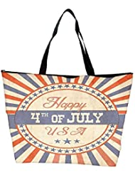 Snoogg Independence Day Greeting Card In Vintage Style Waterproof Bag Made Of High Strength Nylon