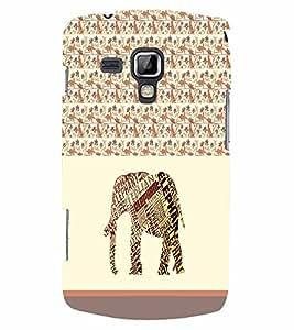 PrintVisa Animal Elephant Art 3D Hard Polycarbonate Designer Back Case Cover for Samsung Galaxy S Duos S7562