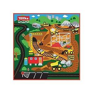 Tonka Truck Gravel Pit Game Rug 3 Trucks