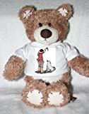 Teddy Bear with husky, feeding, dog, inuit, begging t-shirt