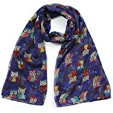Owl On a Branch Print Ladies Fashion Scarf