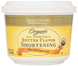 Spectrum Organic All Vegetable Butter Flavor Shortening -- 24 oz