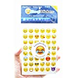 Emoji Stickers 20 Sheets Include the Most Popular and Common Emoji Faces Package Kids Stickers for iphone, 48pcs/sheet - Yellow
