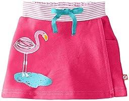 Zutano Baby-Girls Newborn Flamingos Screen French Terry Skort, Fuchsia, 6 Months