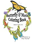 Butterflies and Moths Coloring Book:...