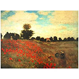 Oriental Furniture Poppies Canvas Wall Art