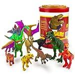 "Set of 12 Large 7"" Dinosaur Assortmen..."