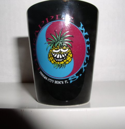 BLACK PANAMA CITY BEACH FLORIDA ONE OUNCE SHOT GLASS