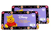 a set of 2 plastic glitter automotive license plate frame disney winnie the pooh in - Disney License Plate Frame