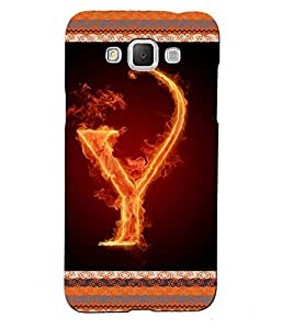 Fuson 3D Printed Alphabet Y Designer back case cover for Samsung Galaxy Grand 2 G7106 / G7102 - D4216