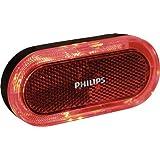 Philips LED Fahrradrücklicht Lumiring Batteriebetrieben mit Blinkfunktion, Rot, SRRBLRBBX1