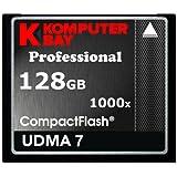 KOMPUTERBAY 128GB Professional COMPACT FLASH CARD CF 1000X 150MB/s Extreme Speed UDMA 7 RAW 128 GB