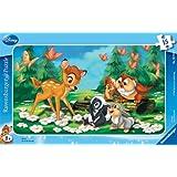 Ravensburger 06039 - Puzzle con marco (15 piezas), diseño de Bambi y sus amigos