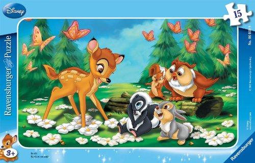 Ravensburger - 06039 9 - Puzzle Incorniciato 15 Pezzi - Bambi